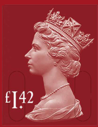 QUEEN ELIZABETH STAMP Flyer (US Letter) template