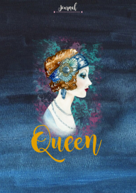Queen Notebook Cover A5 template