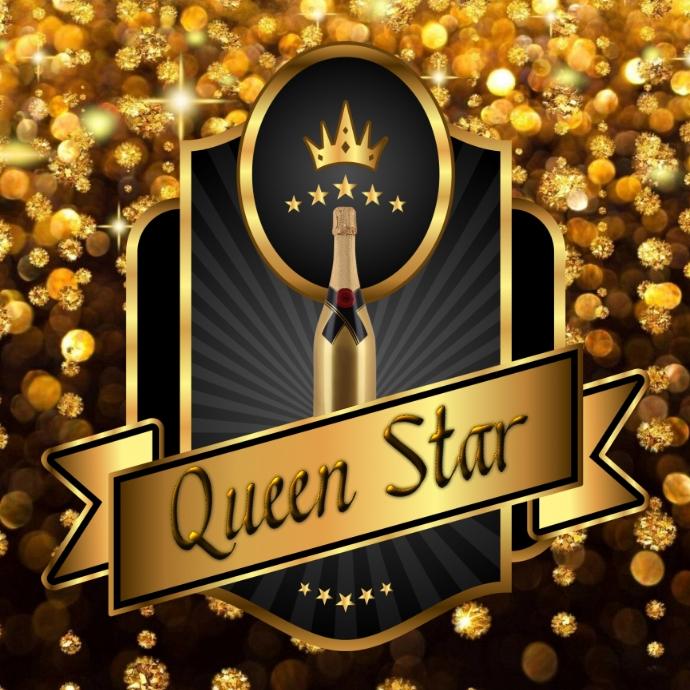 Queen Star Logo template