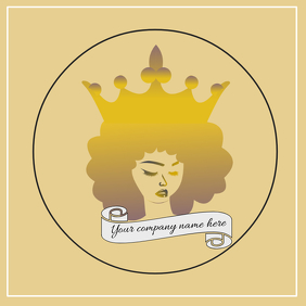 Queen with Afro Logo Design