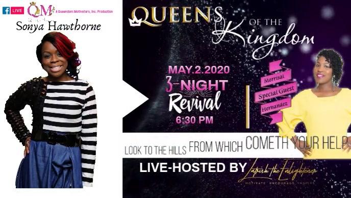 Queens of the Kingdom Video Sampul Facebook (16:9) template