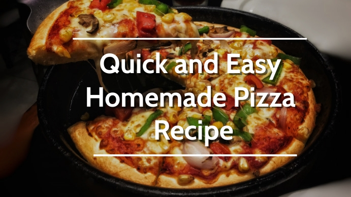Quick and Easy Homemade Pizza Recipe YouTube Channel Cover Photo template