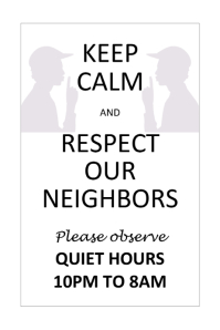 Quiet Time Flyer
