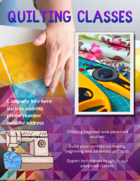 quilting Class Instruction Flyer
