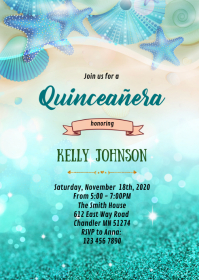 Quinceañera birthday invitation