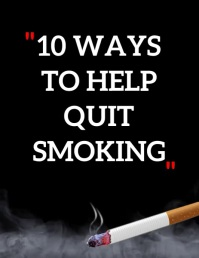 QUIT SMOKING POSTER ใบปลิว (US Letter) template