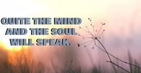 QUITE AND SPEAK QUOTE TEMPLATE โฆษณา Facebook