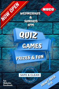 QUIZ & FUN DAY Poster template