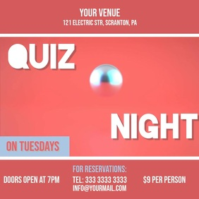 Quiz night 2 video ad invitation