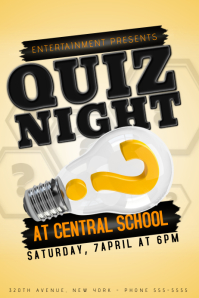 Quiz Night Event Poster Template