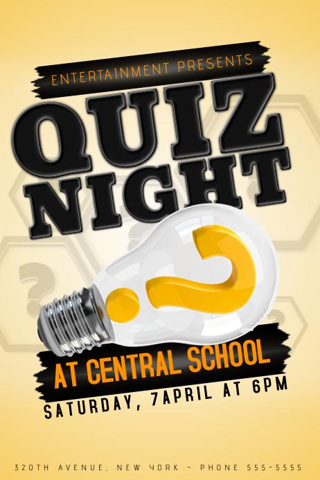 Quiz Night Event Poster Template Plakat