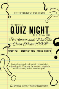 quiz night event poster flyer templatet