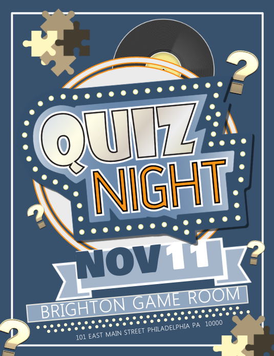 Quiz Night Flyer (US Letter) template