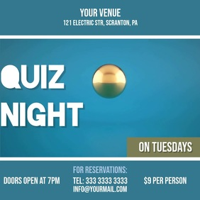 Quiz night liquid 2 video ad invitation