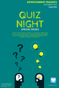 Quiz Night Flyer Template Poster