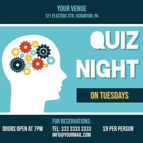 quiz night video ad invitation