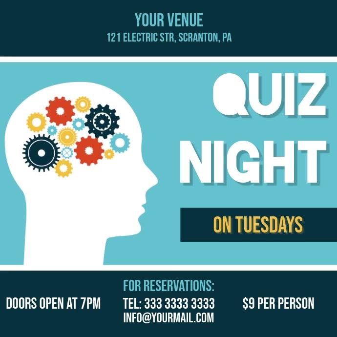 quiz night video ad invitation