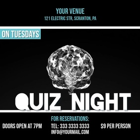 Quiz night video crystal ad invitation