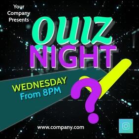 quiz night2 Instagram-bericht template