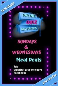 QUIZ Online Poster template