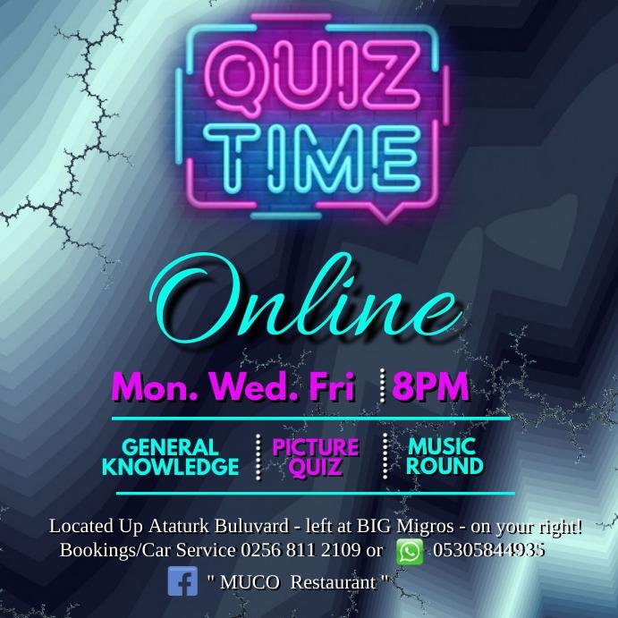 Quiz Time Online Kwadrat (1:1) template