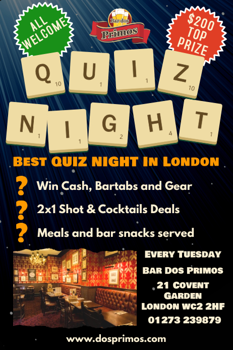 Quiz Trivia Night Poster Template