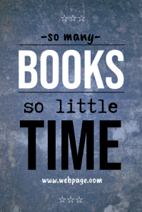 Quote template about books - so many books so little time