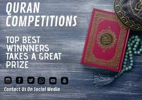 Quran Competitions Postkort template