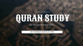 Quran Study Digital Display Template template