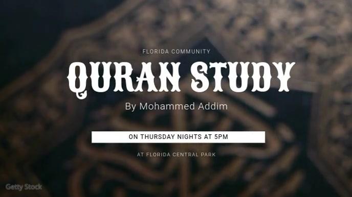 Quran Study Digital Display Template template