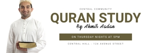 Quran Study facebook cover template