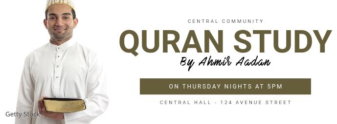 Quran Study facebook cover template