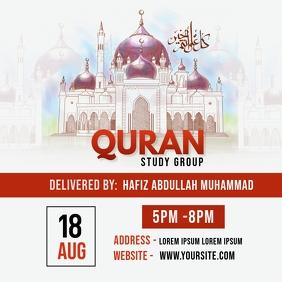 Quran Study Flyer Instagram Post template