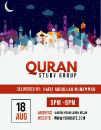 Quran Study Flyer template