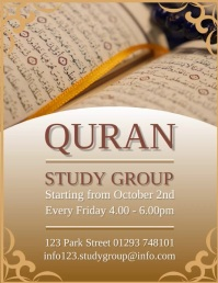 Quran Study Group Design Template Volantino (US Letter)