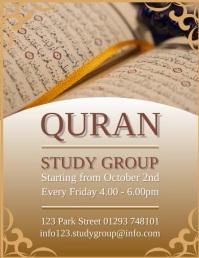 Quran Study Group Design Template Pamflet (VSA Brief)
