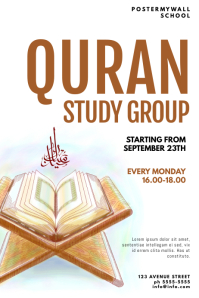 quran study group event flyer template