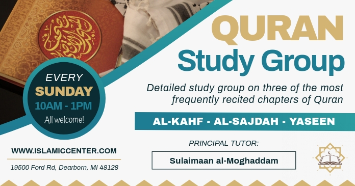 Quran Study Group Facebook Post