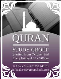 Quran Study Group Flyer Design Template Pamflet (VSA Brief)