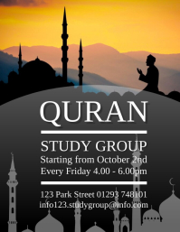 Quran Study Group Flyer Design Template