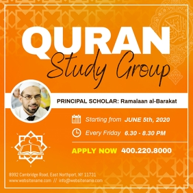 Quran Study Group Instagram Image template