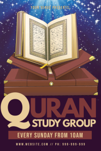 Quran Study Group Poster