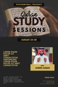 Quran Study Sessions event Flyer Template Poster