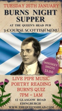 Rabbie Burns Night Bar Digital Template