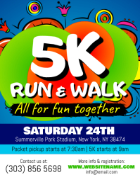 5K Run Flyer Template  Fun Poster Templates