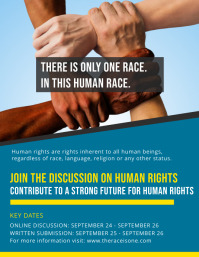 Racial Equality Discussion Forum Flyer Template