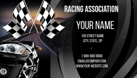 Racing Association Business Card Wizytówka template