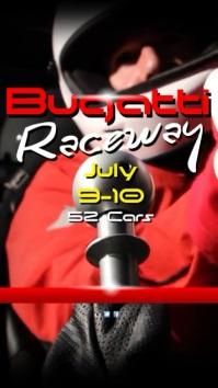 Racing Car Event Instagram Digitale display (9:16) template