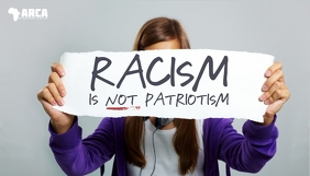 Racism is not patriotism blog header template