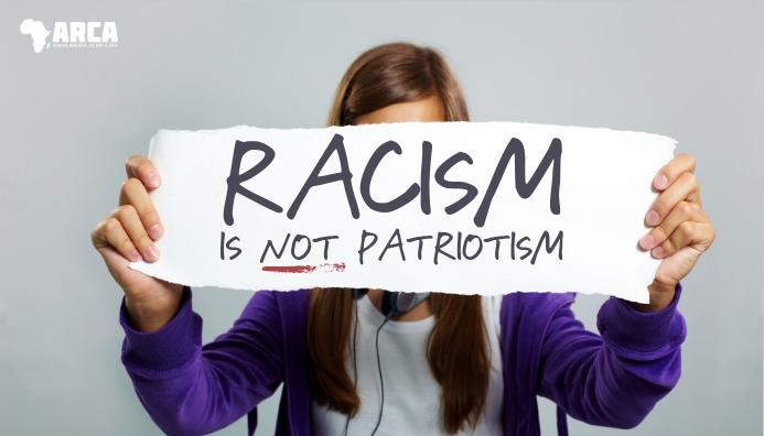 Racism is not patriotism blog header template